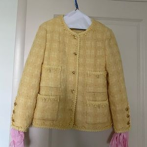Chanel two piece vintage jacket and skirt 38